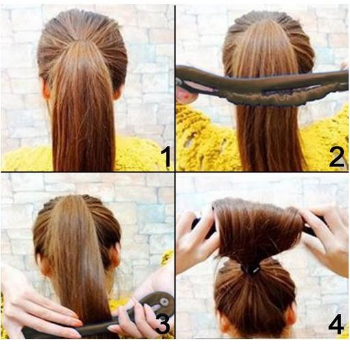 Как одеть на волосы бублик