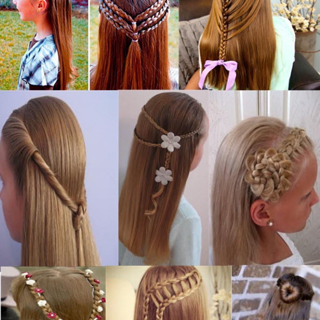 Красивая и простая прическа для девочки на длинные волосы своими руками 692
