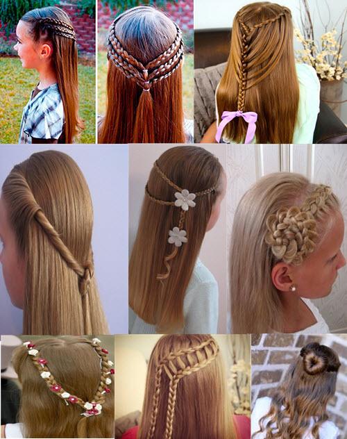 Детские прически для волос средней длины