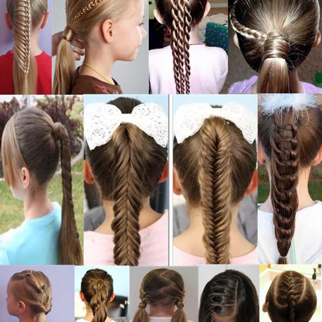 Фото причёски на каждый день в школу