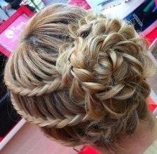 французская коса с подхватом