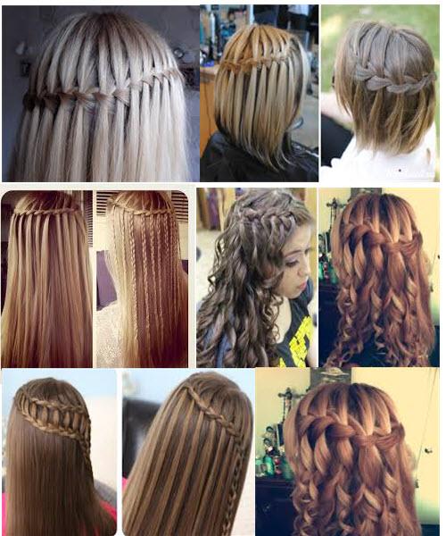 французская коса- водопад