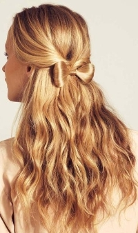 как сделать бантик из волос