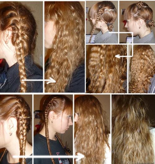 как сделать волну на волосах без плойки