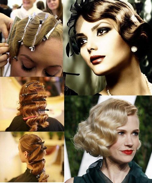 как сделать волну на волосах в стиле ретро