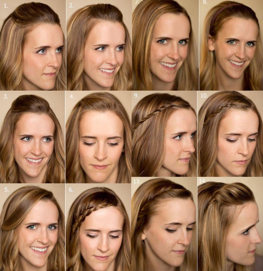 прически с отрастающей челкой на длинные волосы