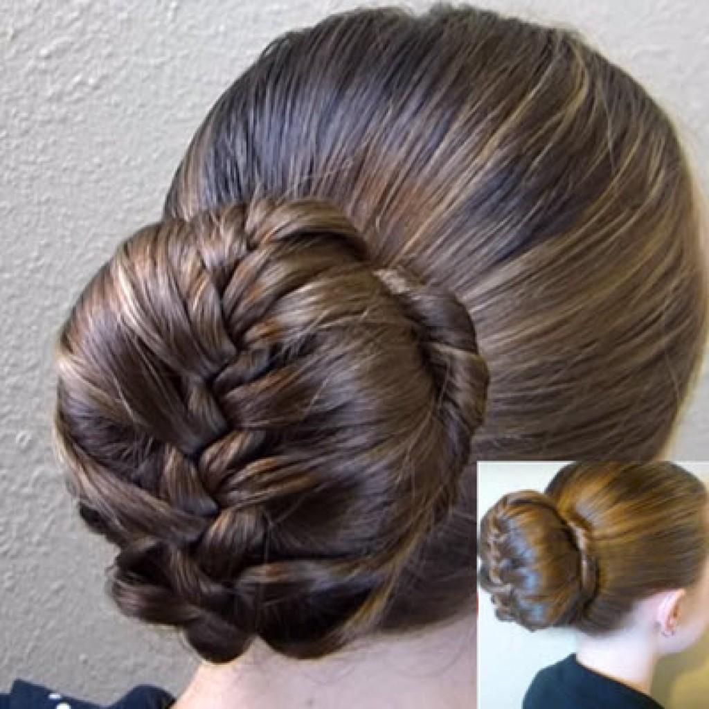 Прическа на длинные волосы с бубликом фото пошагово