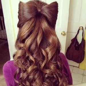 прическа бантик из волос мальвинка