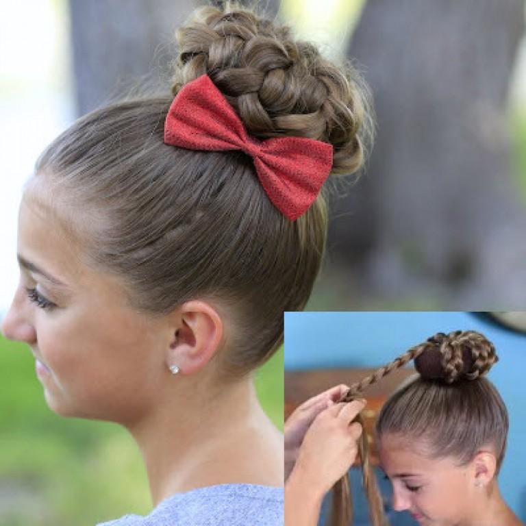 Гулька на волосы девочки как сделать