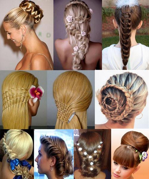 Прическа на свадьбу на средние волосы с челкой для гостей