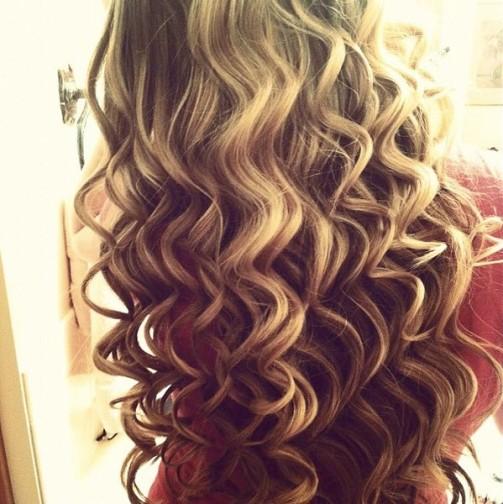как накрутить волосы утюжком по всей длине