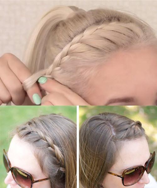 французская коса с подхватом снизу