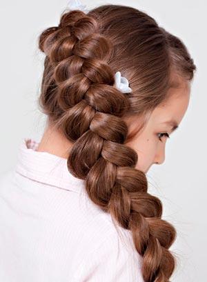 Как на себе плести косы коротких волосах