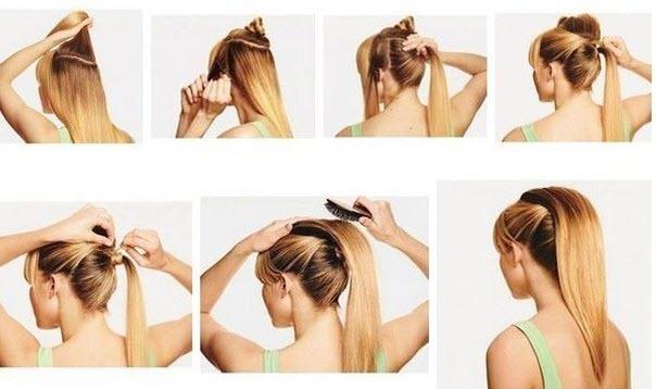 Причёски на средние волосы с начёсом в домашних условиях