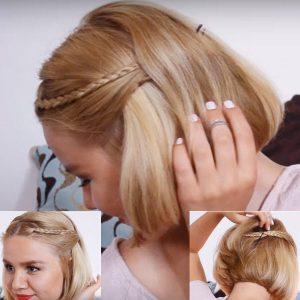 Легкие прически на коротких волос на каждый день фото