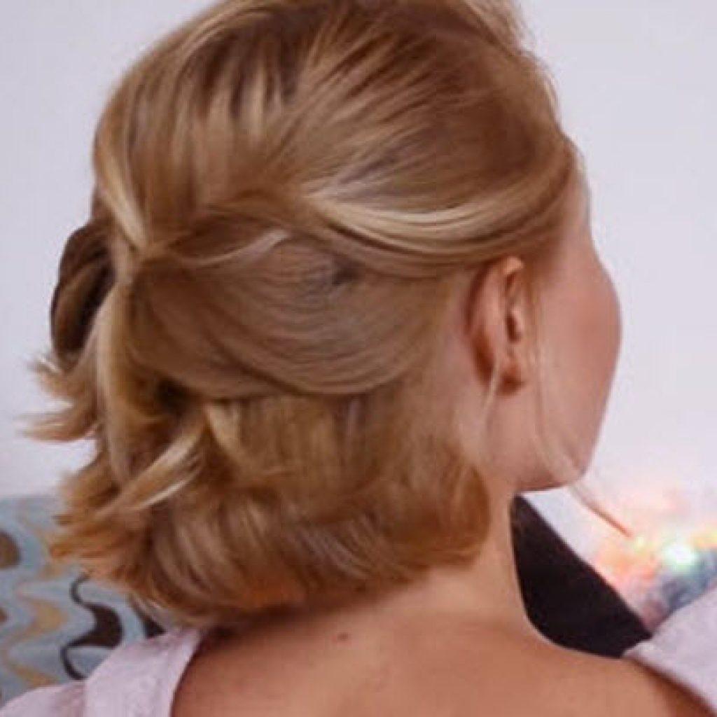 Прическа сама себе фото на короткие волосы