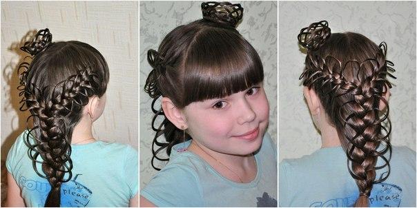 корона из волос для девочки снежинки принцессы