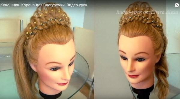 кокошник из волос