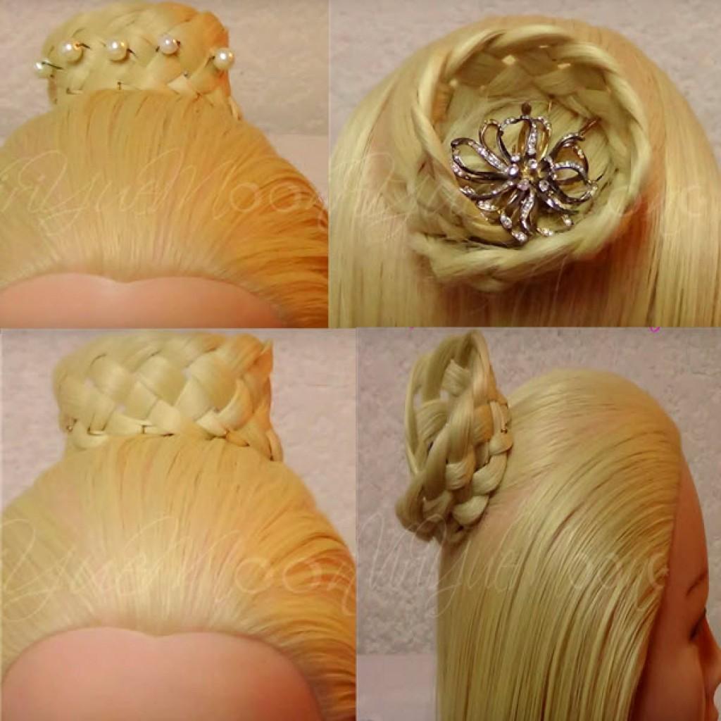 Как сплести из волос корону