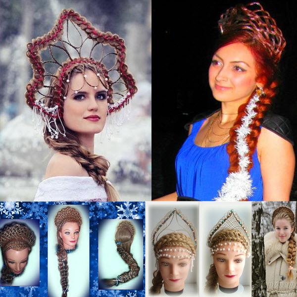 корона из волос, коса вокруг головы фото
