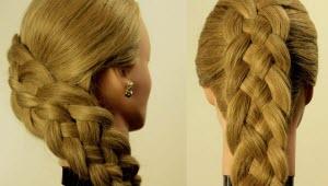 коса из 4 прядей схема