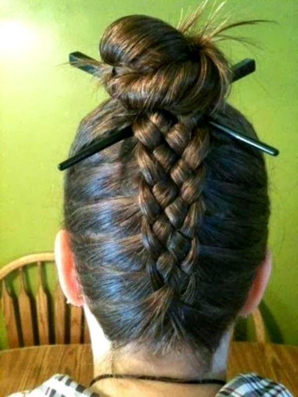 прическа на основе 4 прядной косы