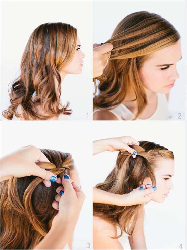 как заплести косу водопад пошаговое фото