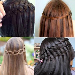 Как заплести косу водопад по схеме , фото  и видео с инструкциями и пояснениями