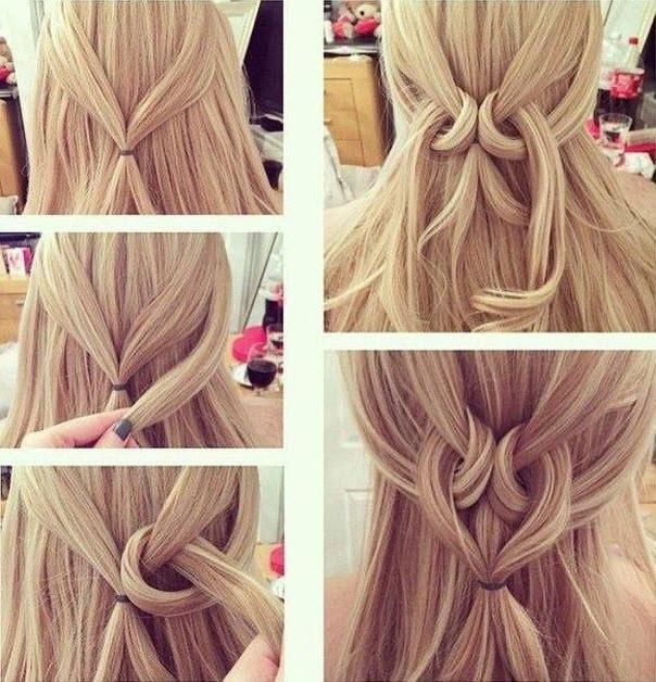 сердечко из волос легкие прически