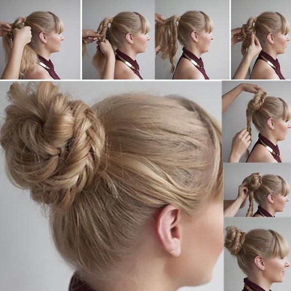 как сделать красивый пучок из волос пошаговое фото