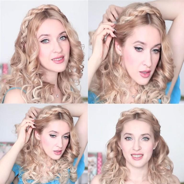 Причёски на свадьбу на средние волосы маме