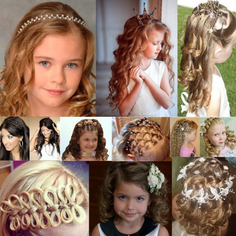 Детские прически для девочек на распущенных волосах