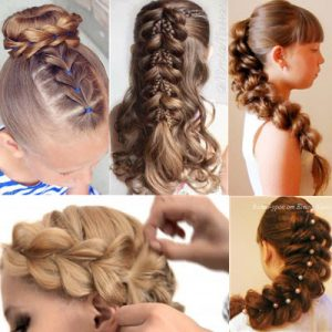 Как сделать косу из хвостиков с резинками за считанные минуты без плетения
