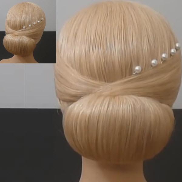 Красивый пучок с помощью бублика: легкая прическа на выпускной, вечерняя, свадебная на средние или длинные волосы