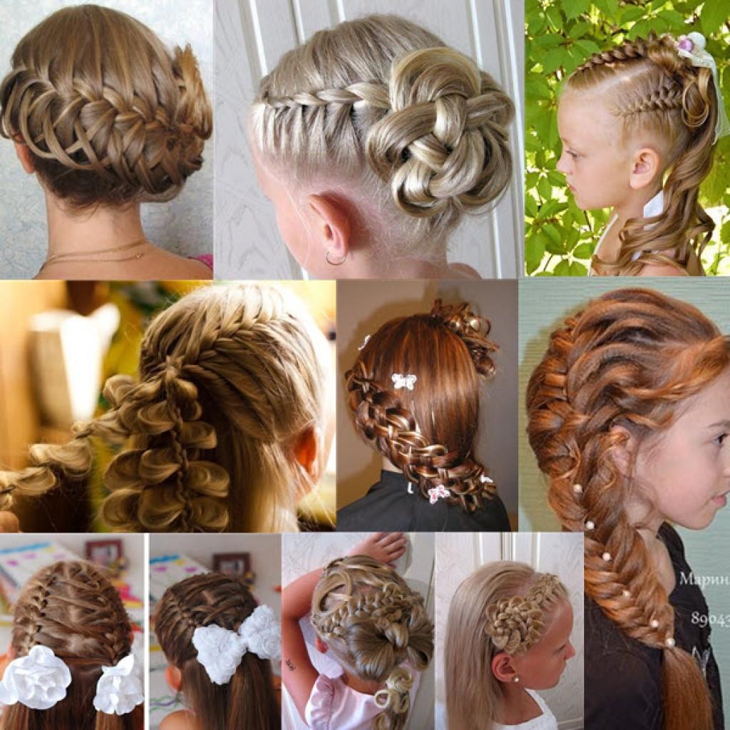 Прически французская коса детская