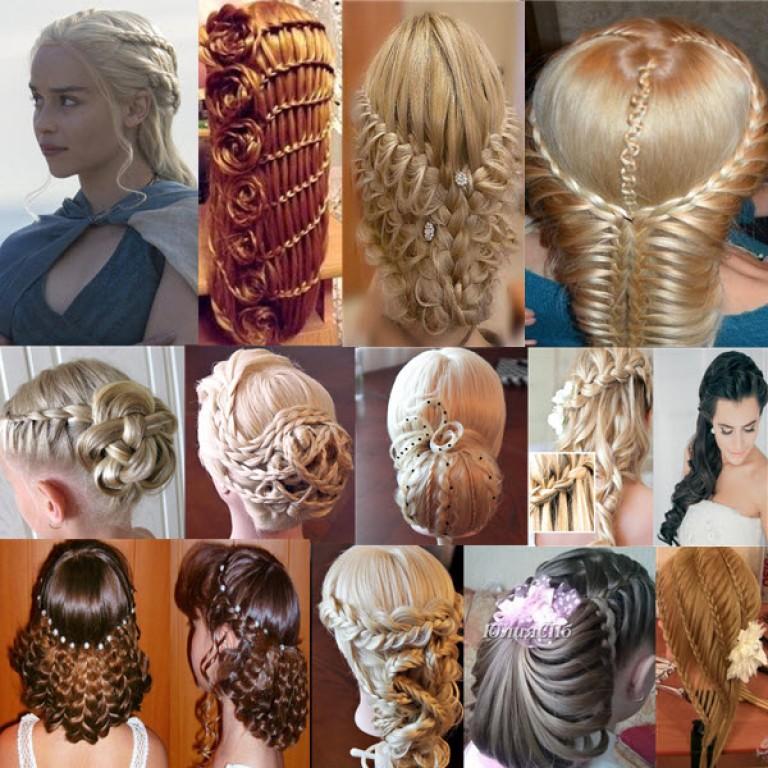 Волосы разные прически