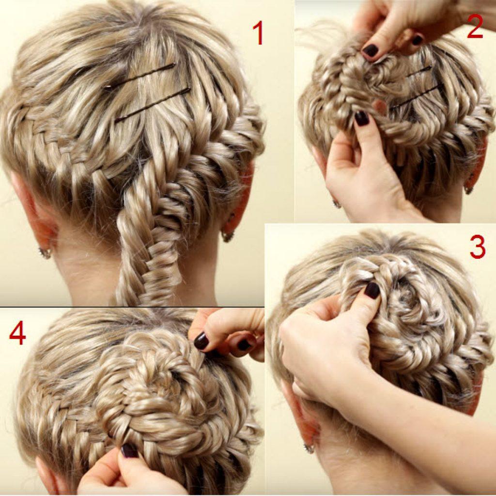 Плетение кос пошаговое фото на детей