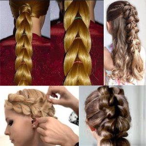 Простая и красивая коса из хвостиков с резинками: фото, видео, схема плетения