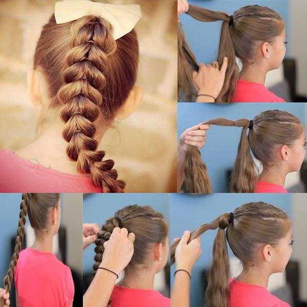 Как плетется коса из хвостиков с резинками: пошаговые фото, видео, схемы и прически для девочек