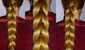 Как плетется простая коса из хвостиков с резинками