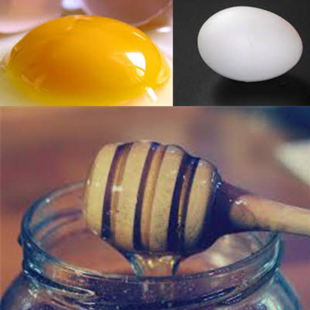 Смесь яиц и меда обеспечивает волосам силу, крепость, яркость.