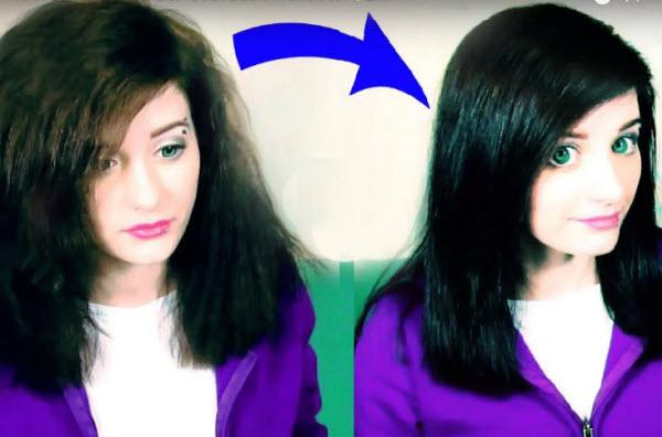 Как выровнять волосы без утюжка и фена с помощью бигуди фото и видео с помощью крема для волос