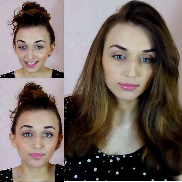 Как выровнять волосы без утюжка и фена с помощью бигуди фото и видео с помощью пучка