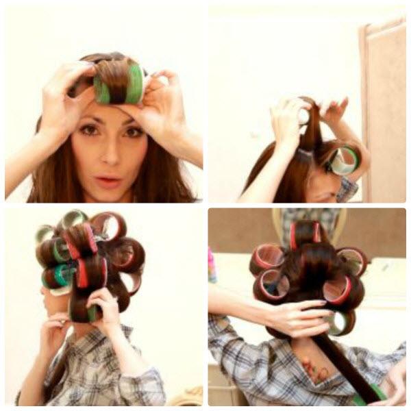 Как выровнять волосы без утюжка и фена с помощью бигуди фото и видео