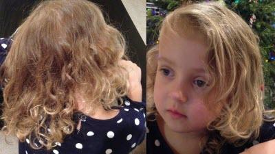 Новый метод как подстричь кончики волос дома ребенку девочке, даже на вьющиеся локоны