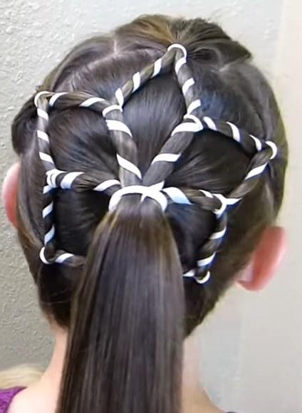Пример новогодней прически на длинные волосы фото с инструкцией