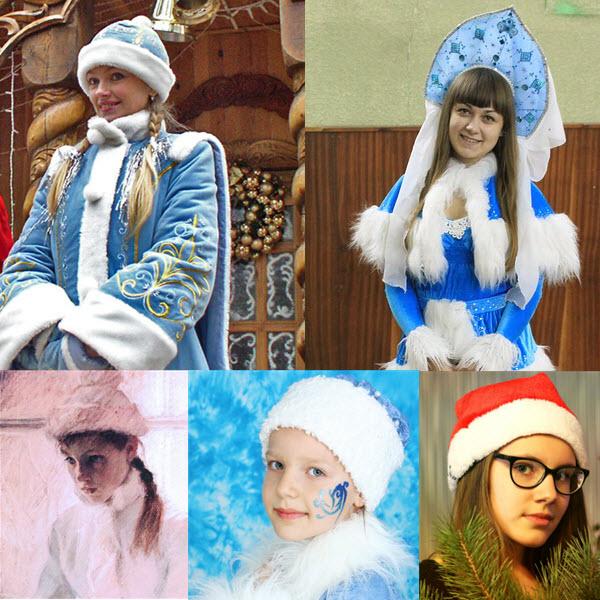 Новогодняя прически для костюма снегурочки для девочки на длинные и средние волосы